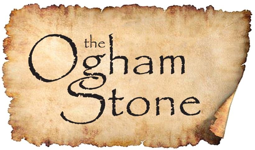 Torn Ogham Stone Logo 1