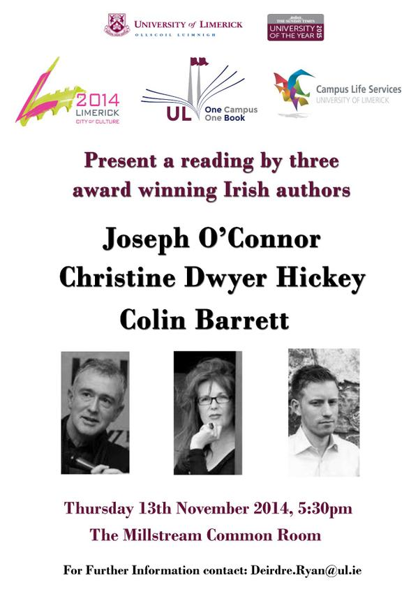 Reading by Three Irish Authors