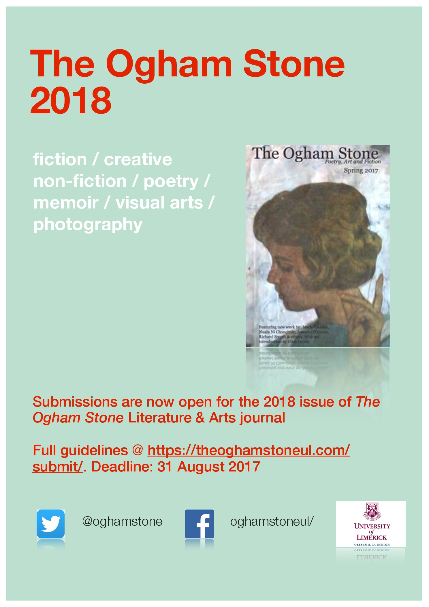 The Ogham Stone 2018 Issue: Call for Submissions – The Ogham